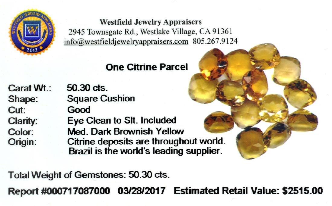 APP: 2.8k 56.37CT Pear Cut Citrine Parcel - 2