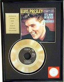 3010: ELVIS PRESLEY ''It's Now or Never'' Gold LP