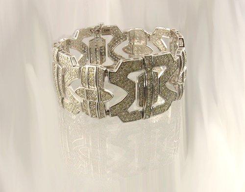 3018: APP.: $27.5K, 14.60CT Diamond Bracelet, INVESTORS