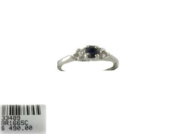 3019: N.R.! .30CT Sapphire and .12CT Diamond Ring, INVE