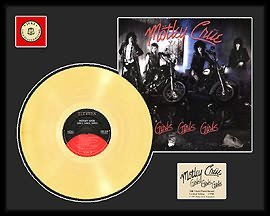 1021: MOTLEY CRUE ''Girls, Girls, Girls'' Gold LP