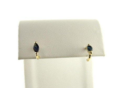 1015: 14 kt. Gold, Sapphire Earrings, INVESTORS LOOK!!