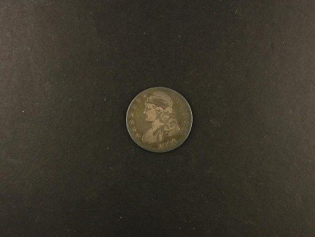 1019: 1834 Busted Half Dollar Coin, COLLECT!