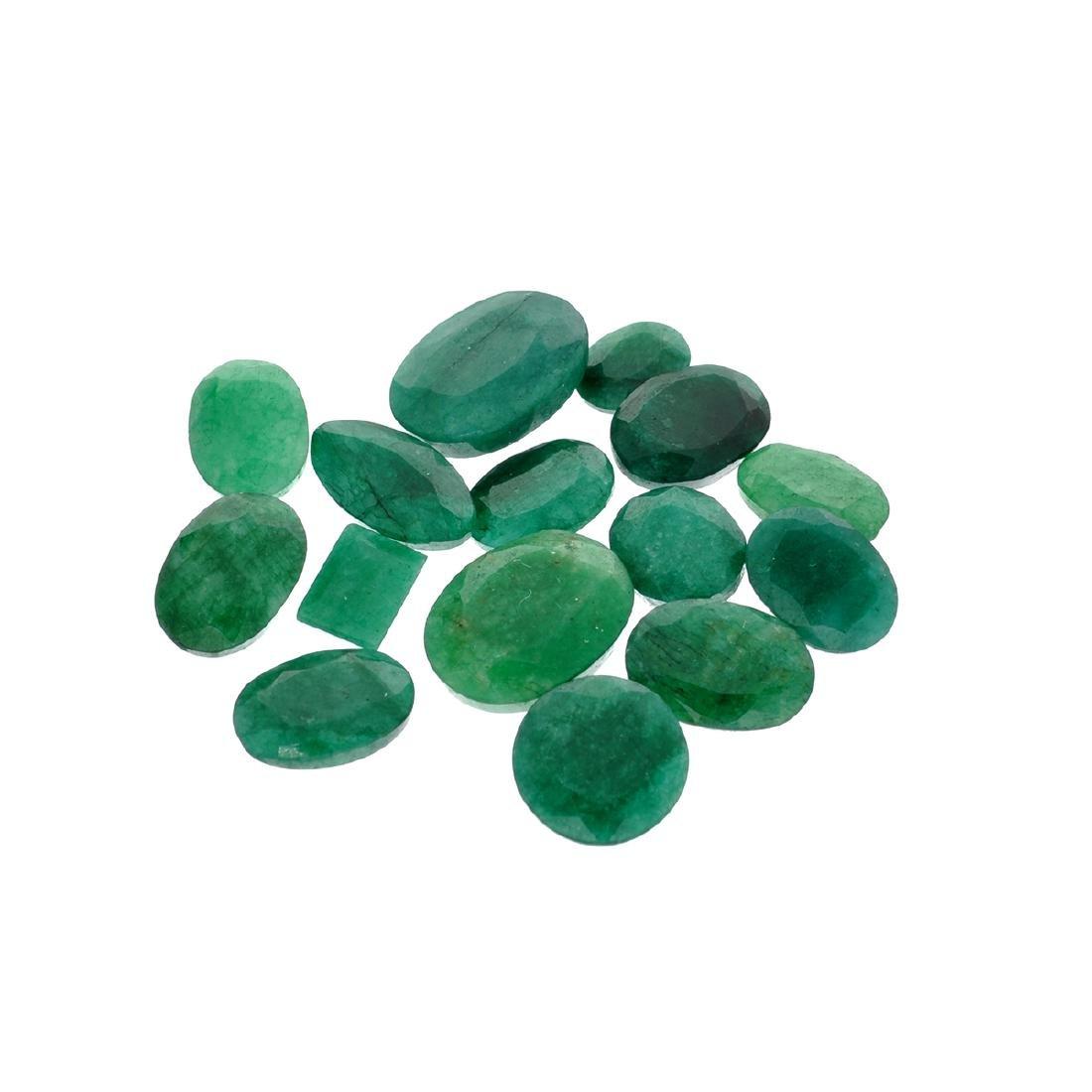 APP: 7.5k 100.21CT Various Shapes Green Emeral Parcel -
