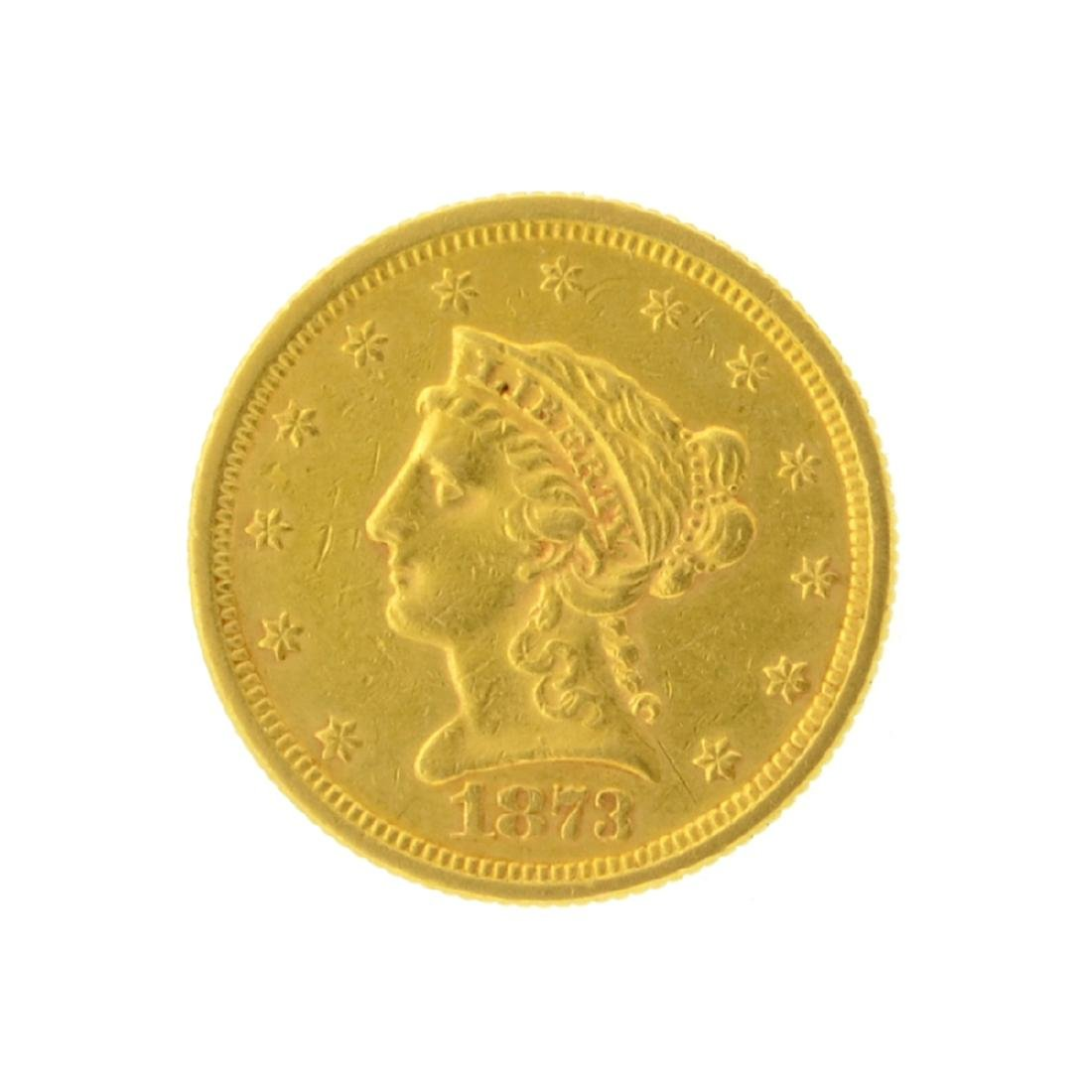 1873 $2.50 Liberty Head Gold Coin