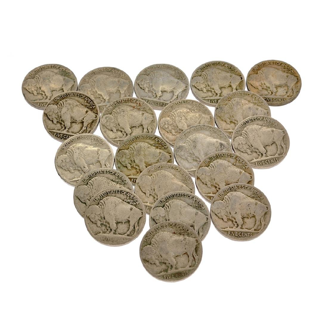 20 Misc. Buffalo Nickel Coins - 2