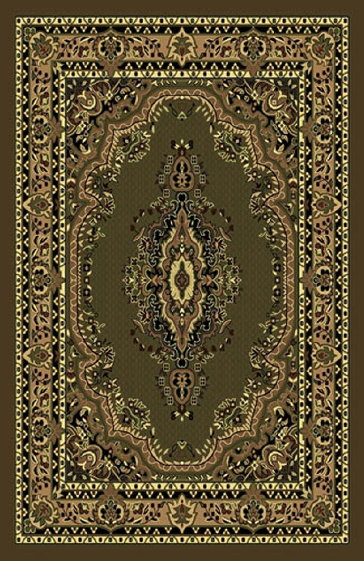 Gorgeous 5x8 Emirates Green & Brown Rug  Plush, High