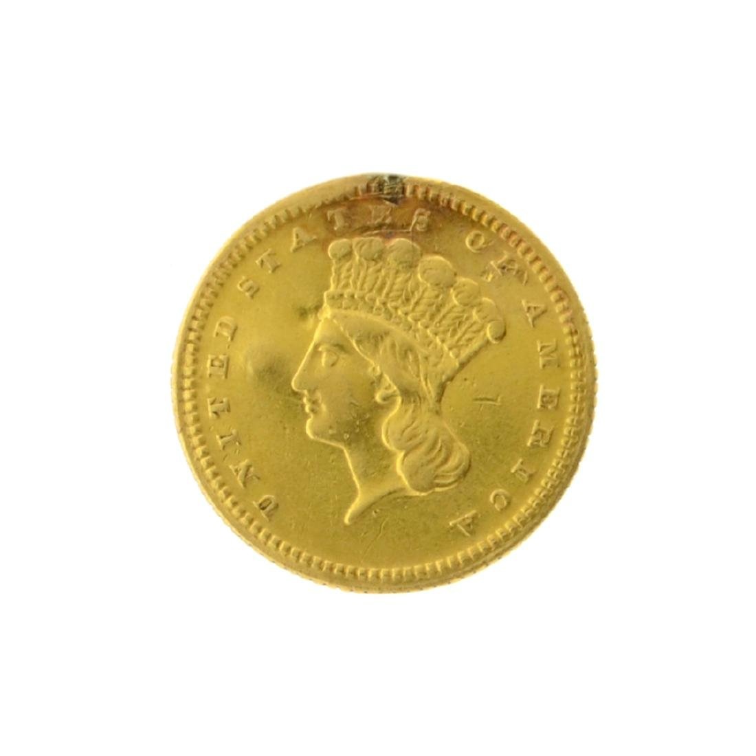 1868 $1 Large Indian Head Gold Coin
