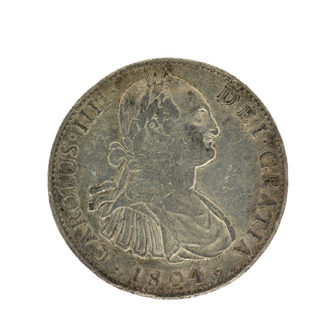 1804 Extremely Rare Eight Reales American First Silver