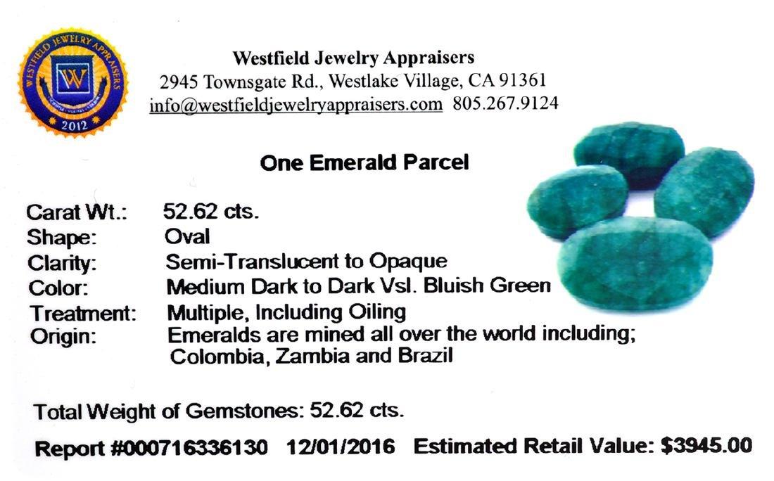 APP: 3.9k 52.62CT Green Emerald Parcel - 2