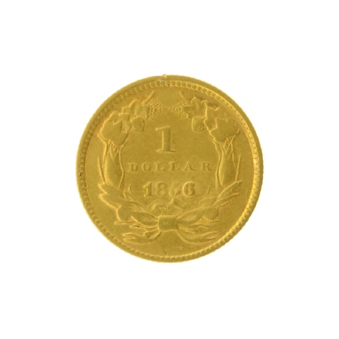1856 $1 Large Indian Head Gold Coin - 2