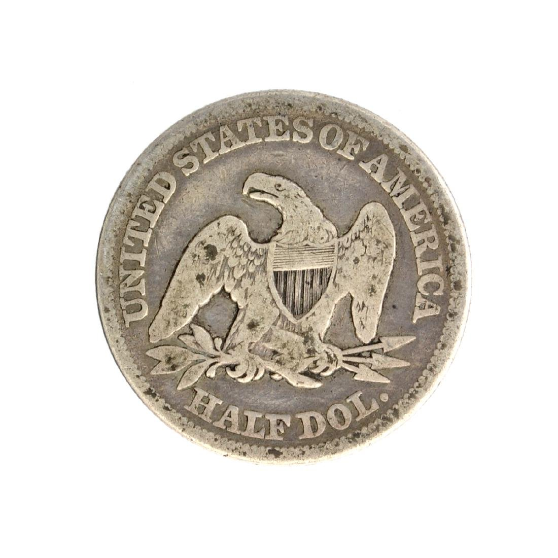 1856 Liberty Seated Half Dollar Coin - 2