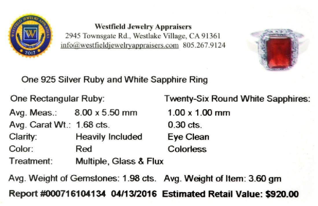 APP: 0.9k Fine Jewelry 1.98CT Red Ruby And White - 2