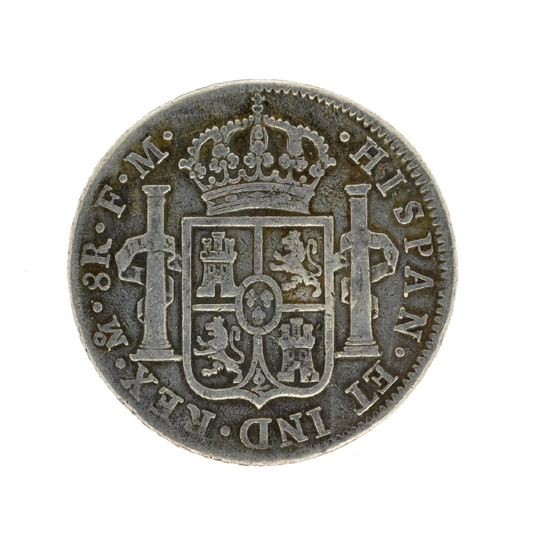 1797 Extremely Rare Eight Reales American First Silver - 2
