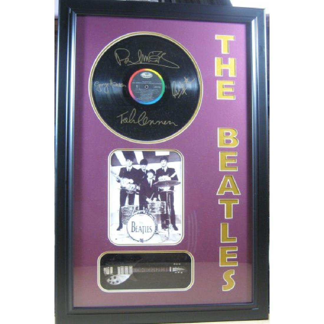 Beatles Engraved Album with Guitar