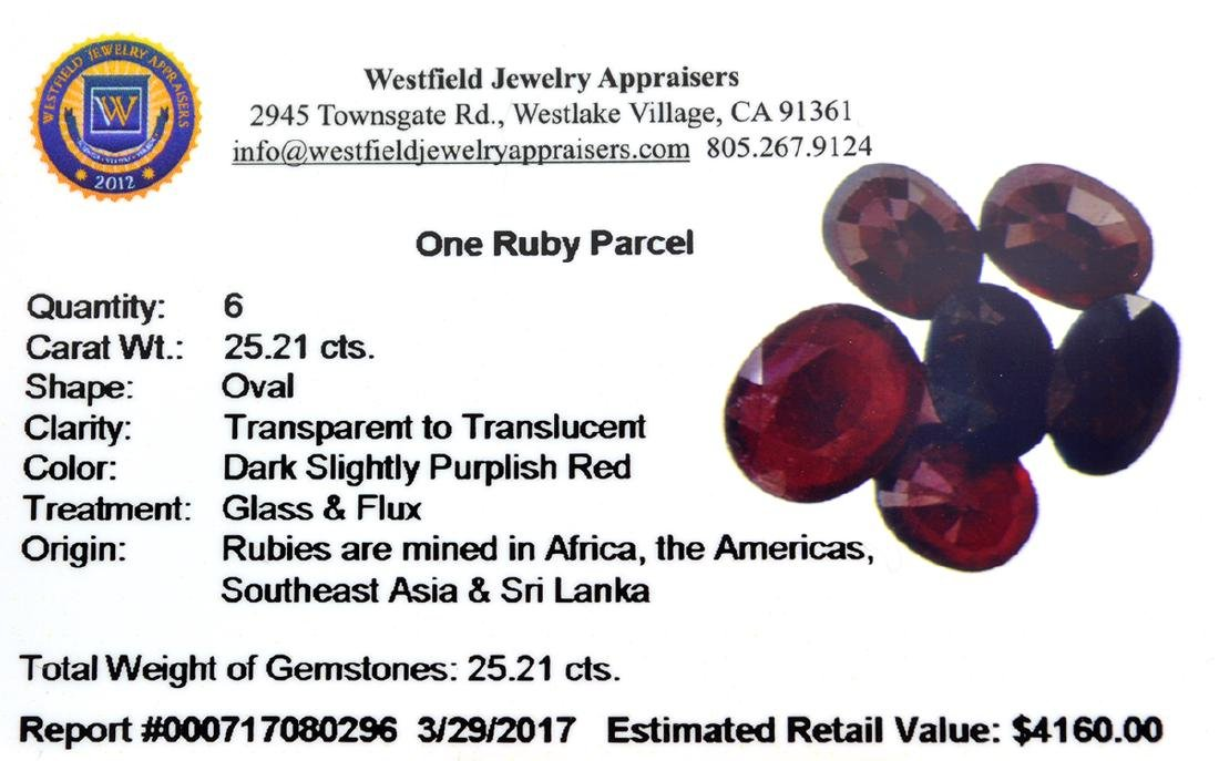 APP: 4.2k 25.21CT Oval Cut Ruby Parcel - 2