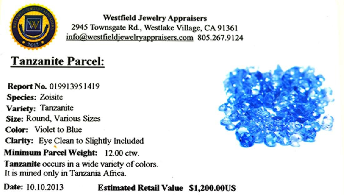APP: 1.2k 12CT Round Cut Tanzanite Parcel - 2