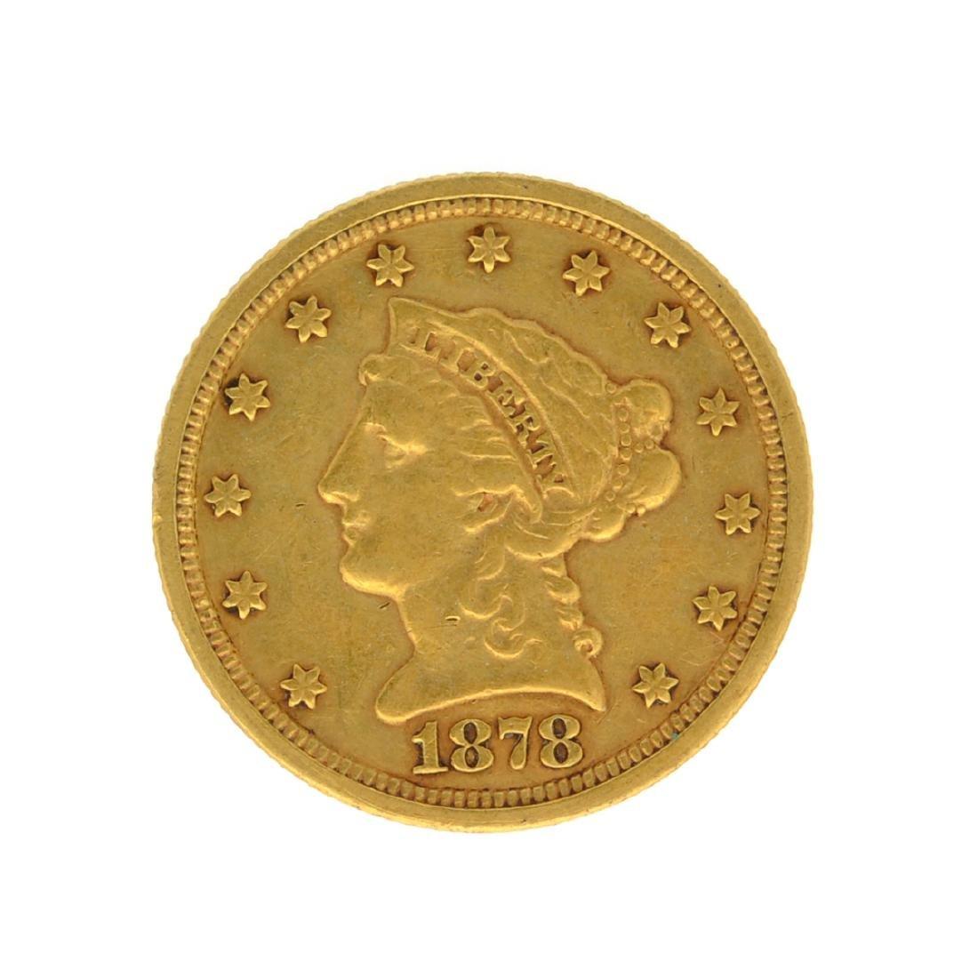 *1878-S $2.50 U.S. Liberty Head Gold Coin (JG-N)
