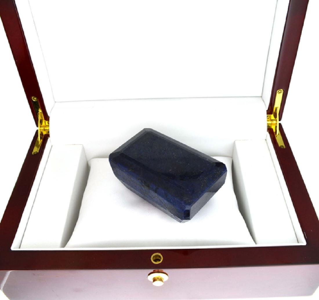 APP: 12.5k 1563.80CT Emerald Cut Blue Sapphire Gemstone