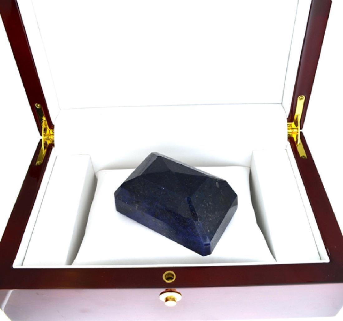 APP: 12.5k 1563.80CT Emerald Cut Blue Sapphire Gemstone - 2