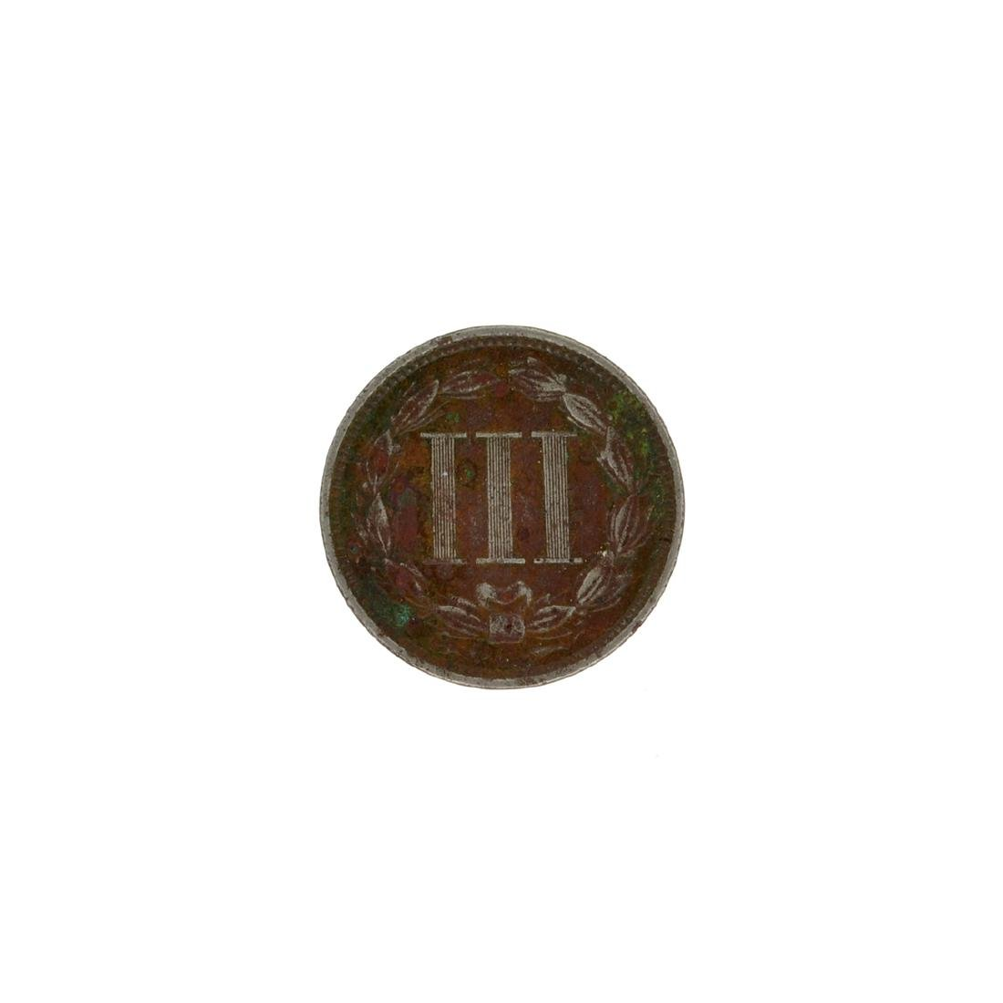 1868 Three Cent Coin - 2