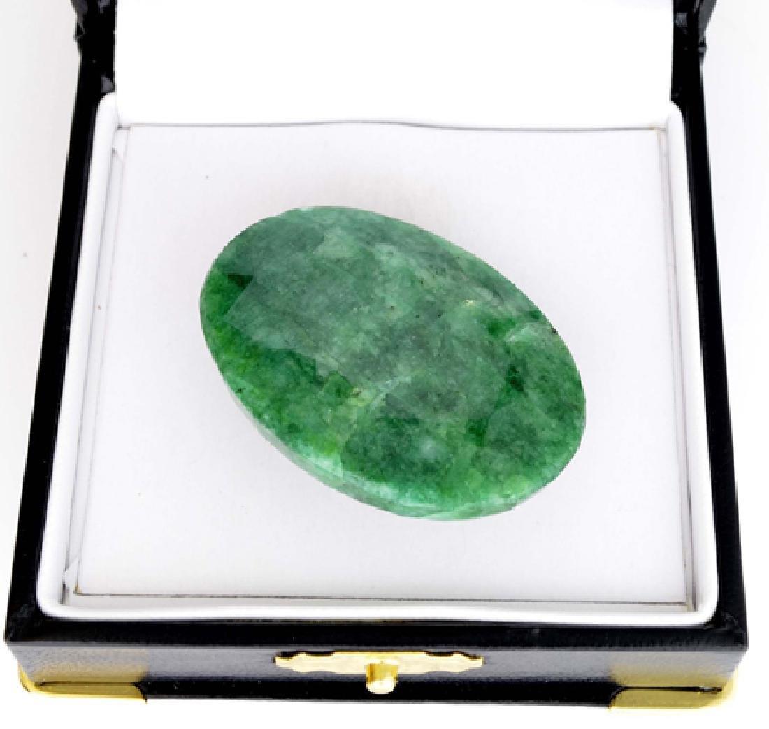 APP: 18k 120.10CT Oval Cut Emerald Gemstone