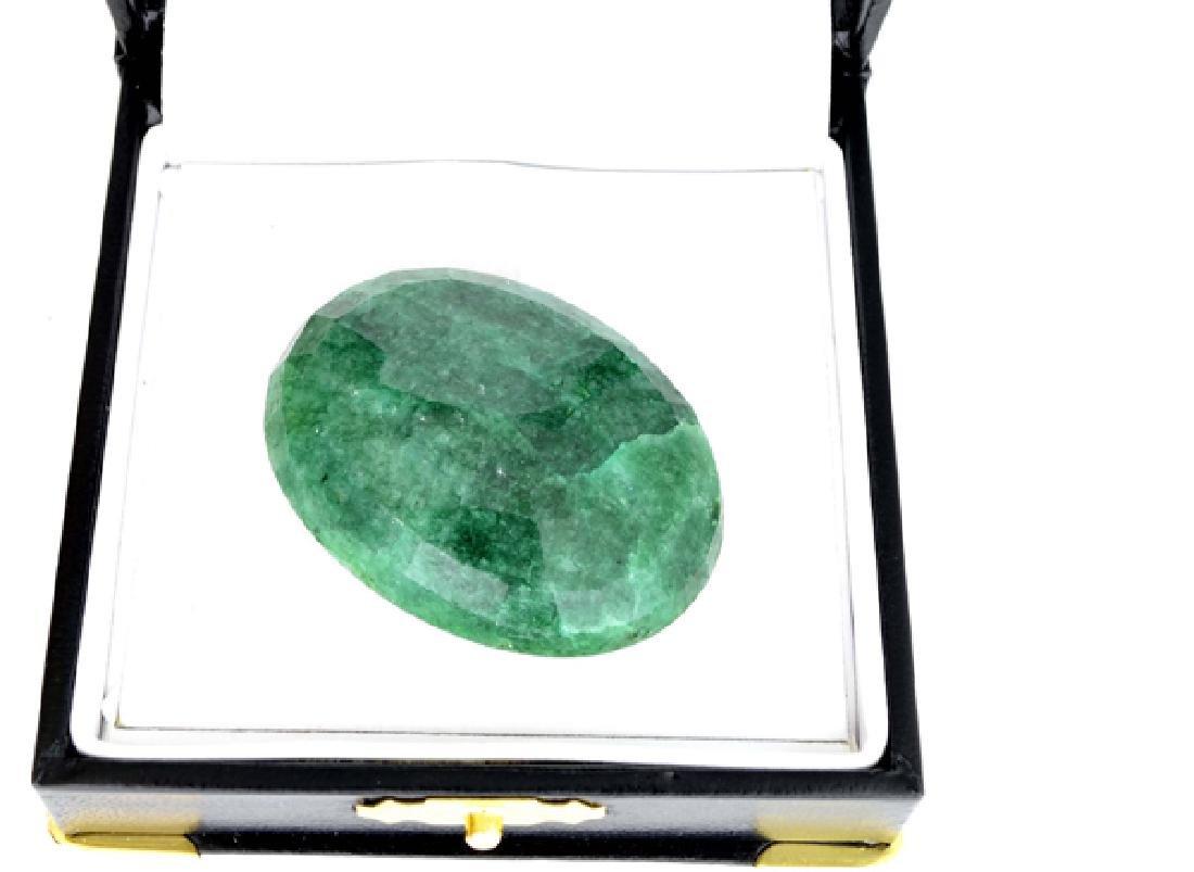 APP: 18k 120.10CT Oval Cut Emerald Gemstone - 2