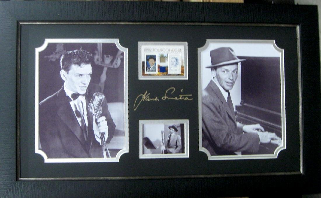 Frank sinatra signature with real swatch of engraved frank sinatra signature with real swatch of jeuxipadfo Images