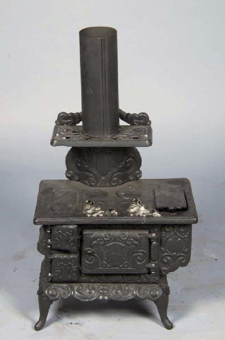Rare Salesman's Sample Cast Iron Stove Museum Piece