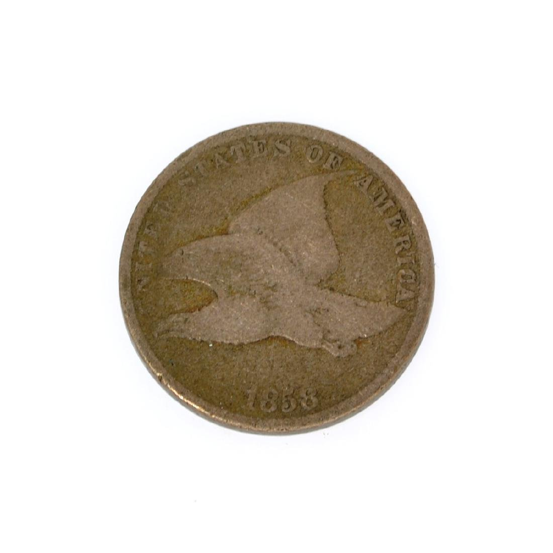 Rare 1858 Small Letters Flying Eagle One Cent Coin