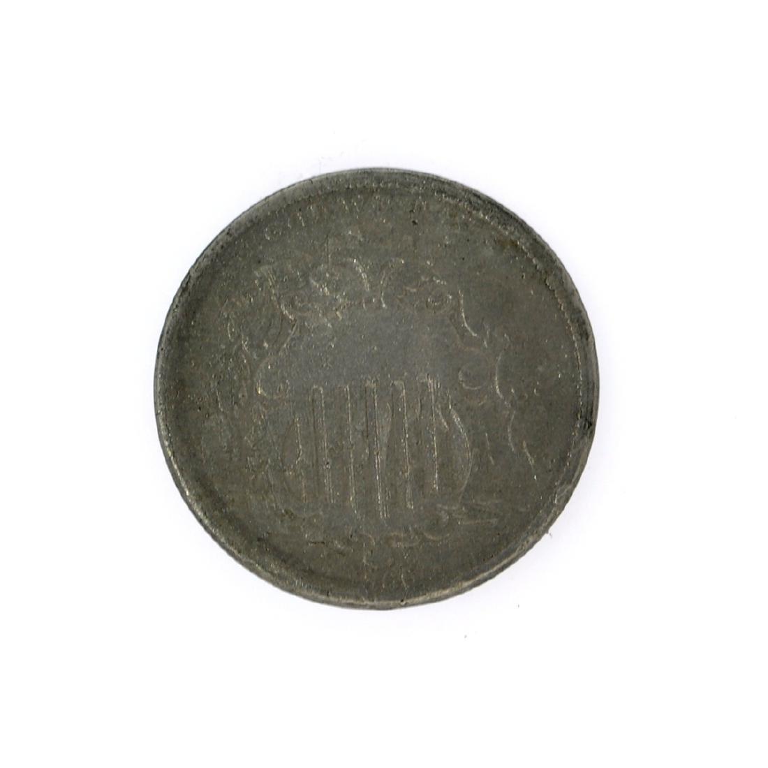 1866 Rays Shield Nickel Coin