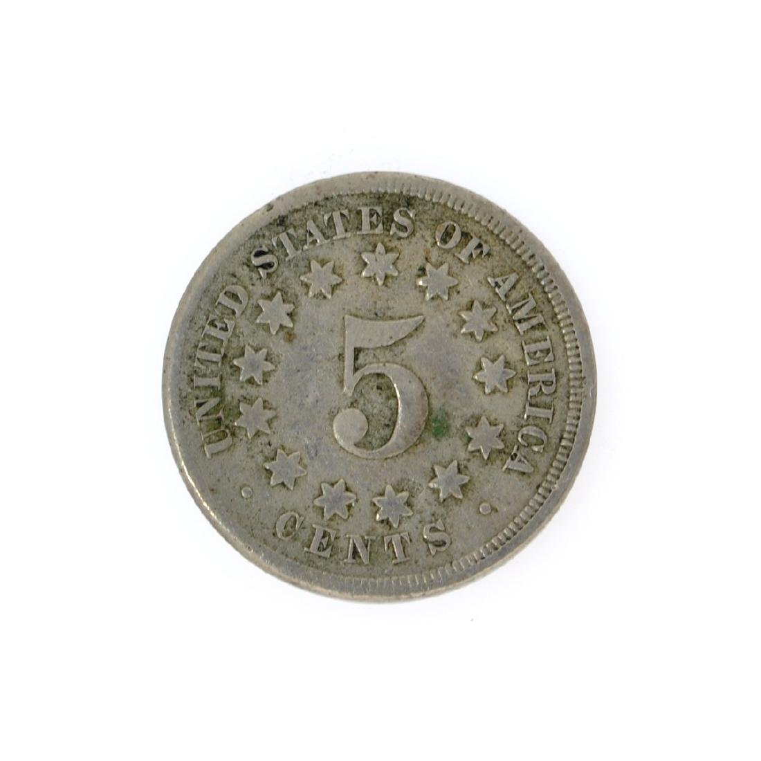 1867 Shield Nickel Coin - 2