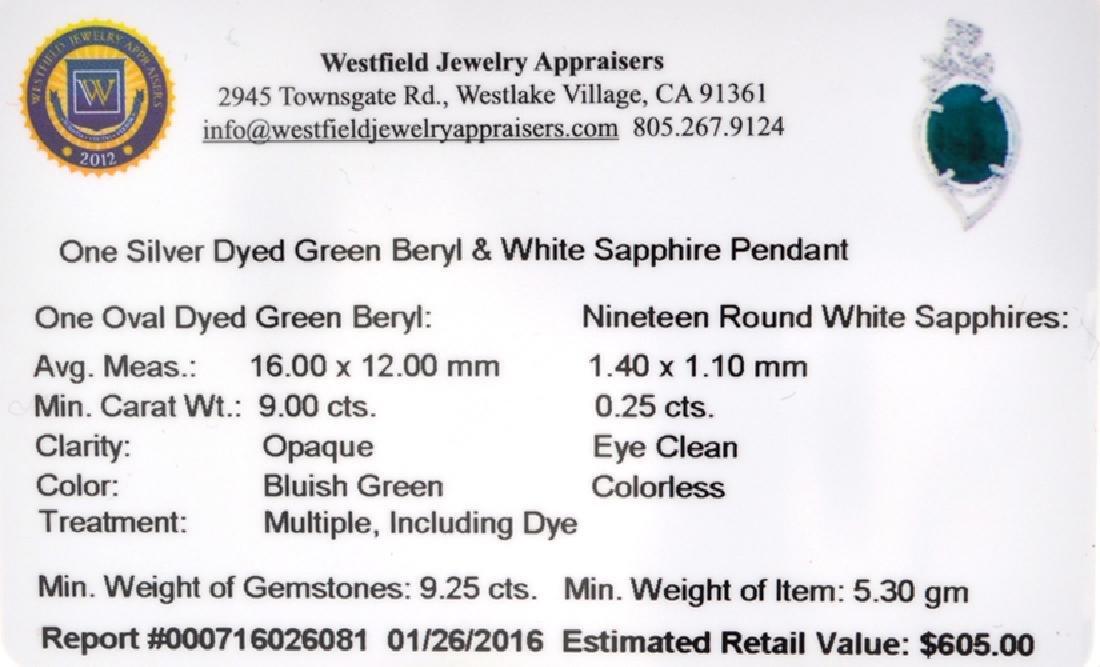 APP: 0.6k Fine Jewelry 9.00CT Oval Cut Green - 2