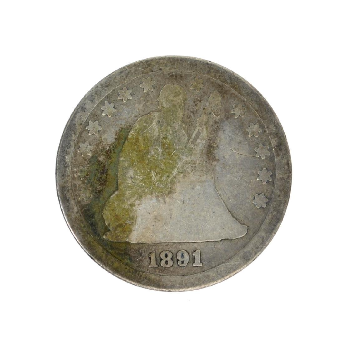 1891-S Liberty Seated Quarter Dollar Coin