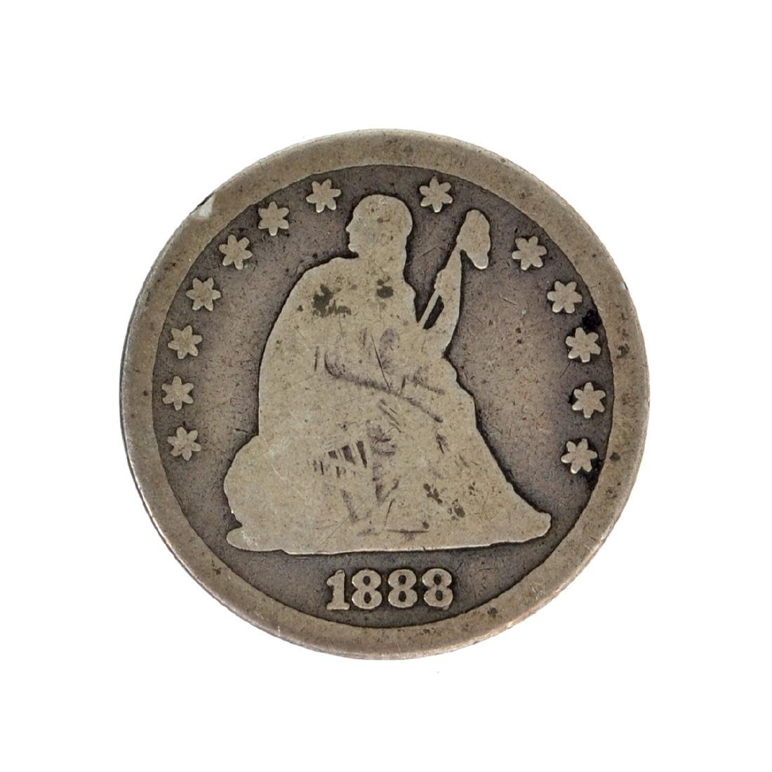 1888-S Liberty Seated Quarter Dollar Coin