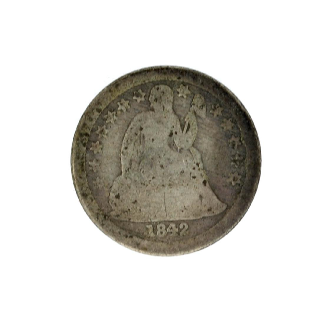 1842 Liberty Seated Dime Coin