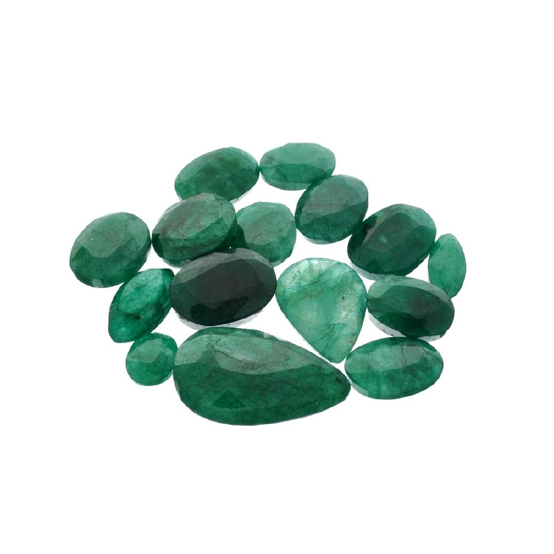 APP: 7.6k 101.28CT Various Shapes Green Emeral Parcel-