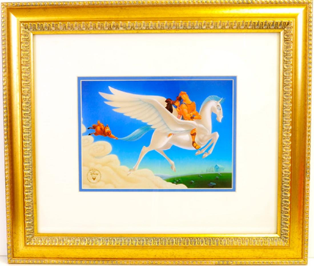 DISNEY (After) ''Hurcules'' Rare Museum Framed 21x19