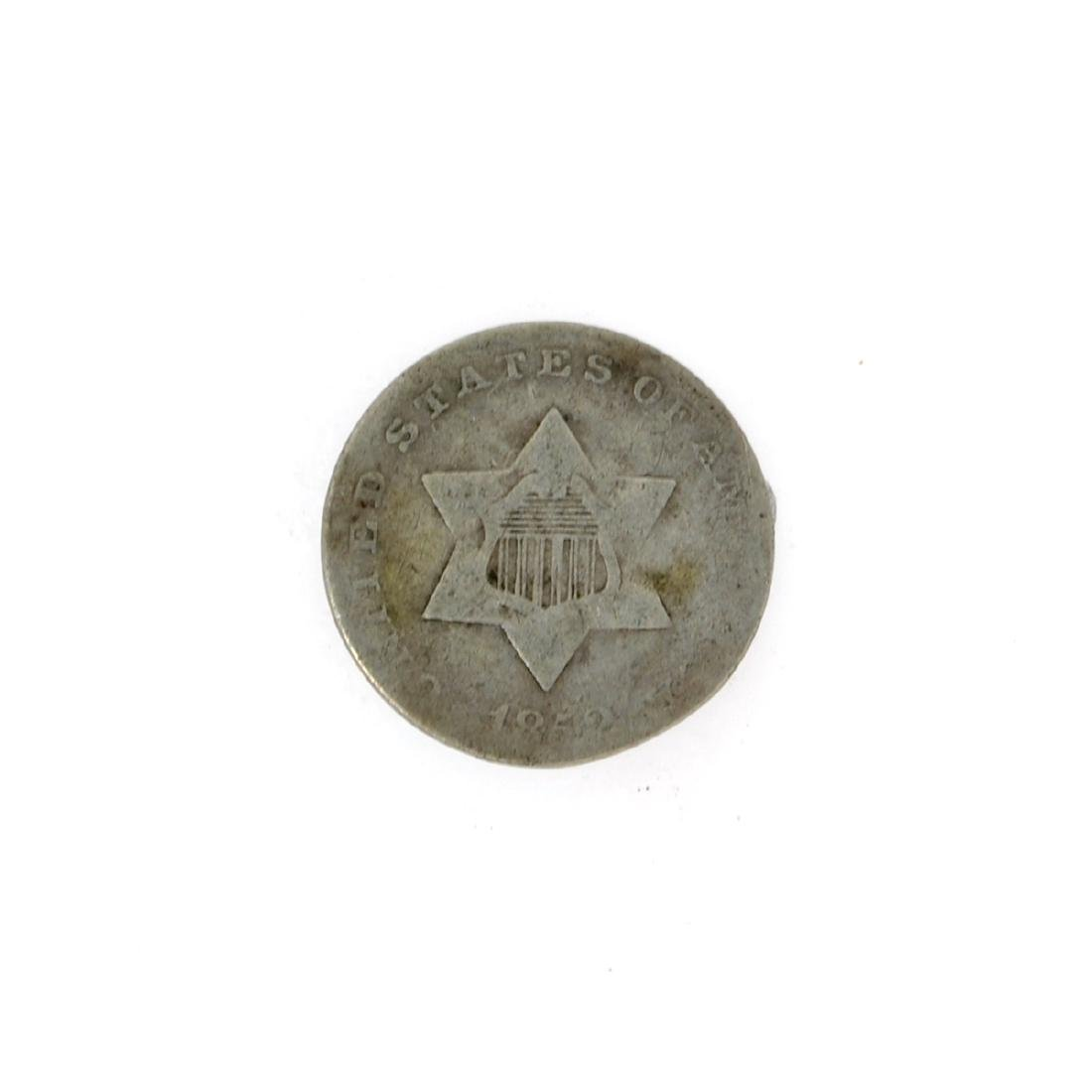 1852 Silver Three-Cent Coin
