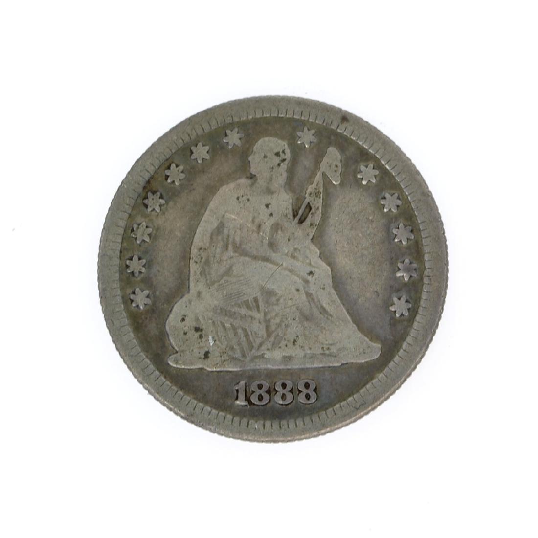 Rare 1888-S Liberty Seated Quarter Dollar Coin
