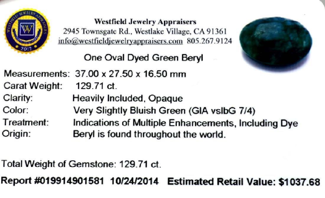 APP: 1k 129.71CT Oval Cut Green Beryl Gemstone - 3