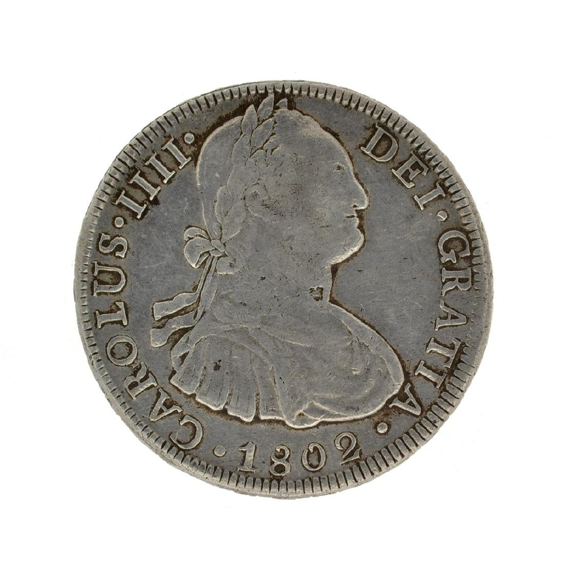 1802 Extremely Rare Eight Reales American First Silver