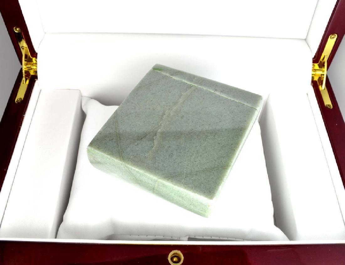 APP: 17k 1,892.50CT Square Cut Green Guatemala Jade