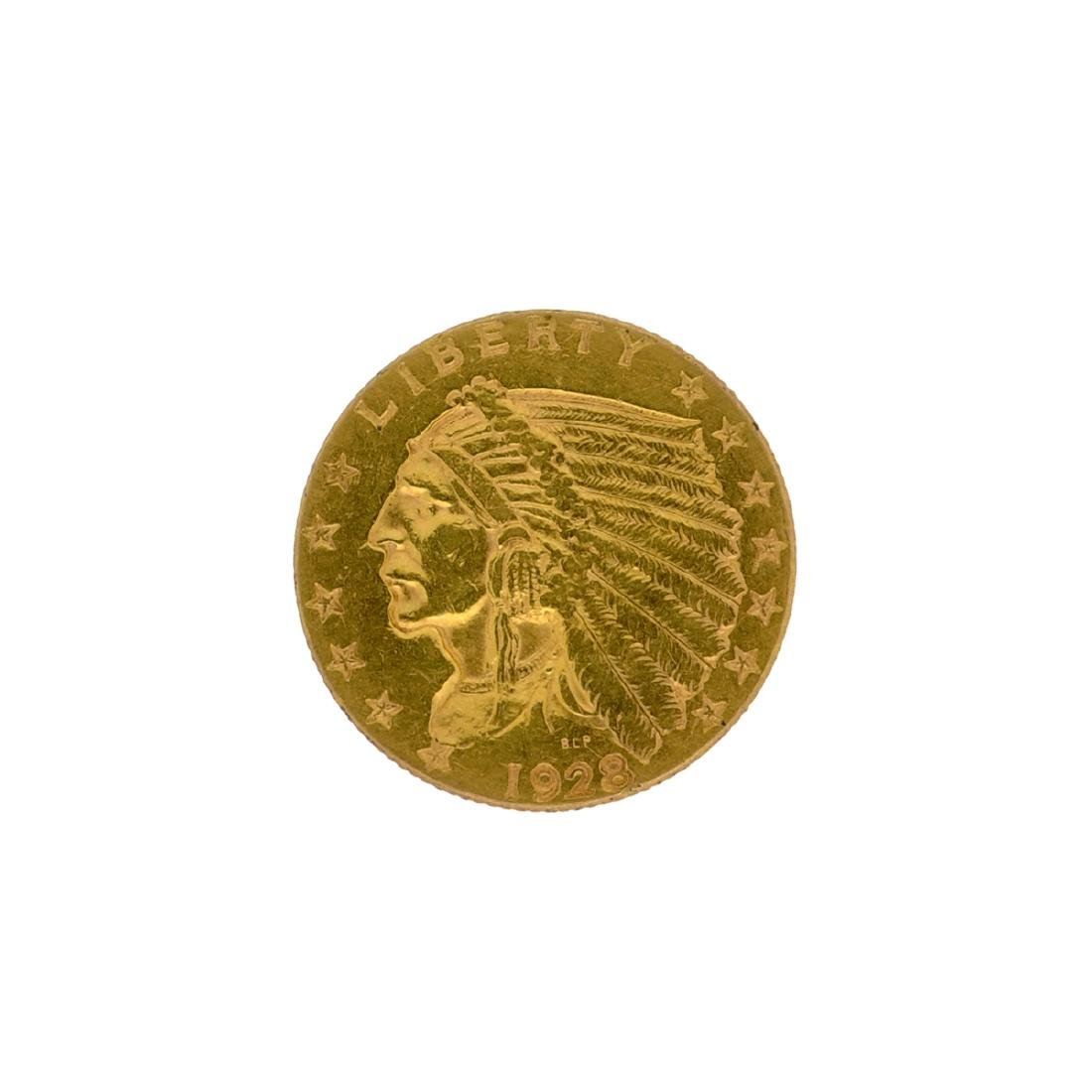 *1928 $2.5 Indian Head Gold Coin (DF)