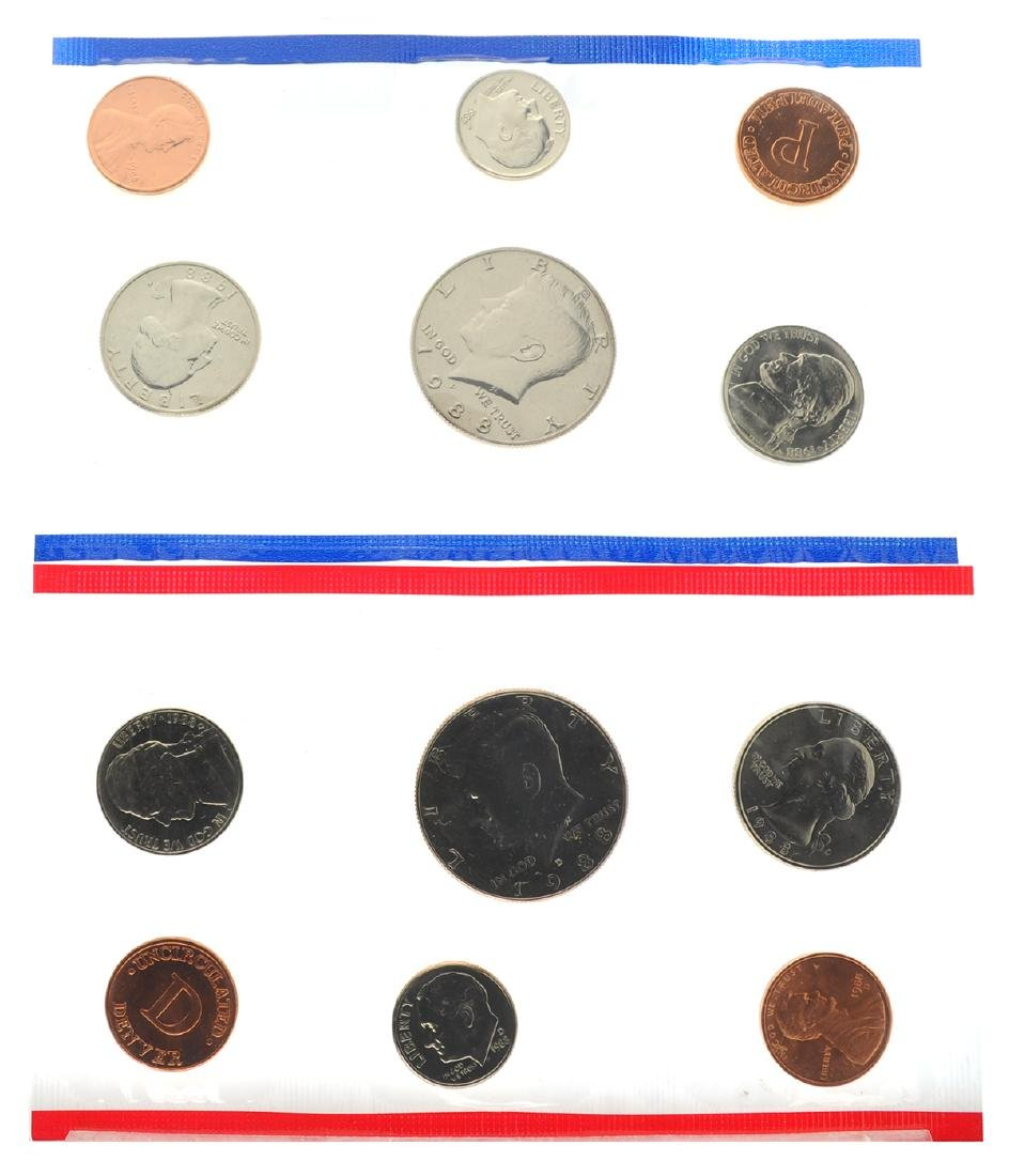 1988 United States Mint Uncirculated Set Coin