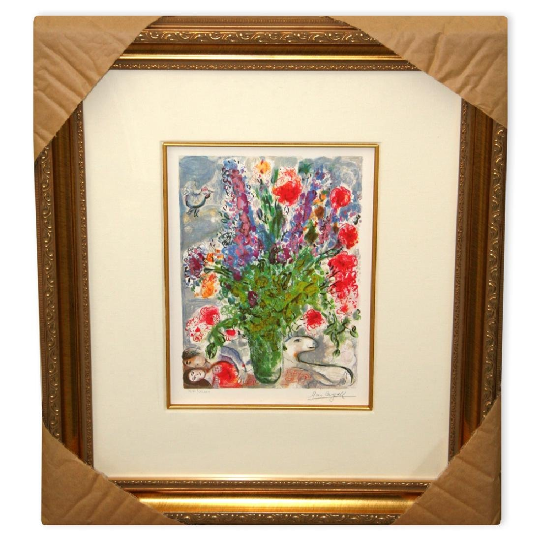 Chagall (After) 'Les Lupins Bleu' Museum Framed