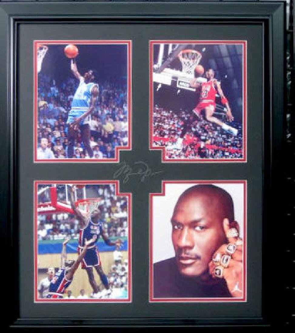Michael Jordan Collage - Engraved Signature