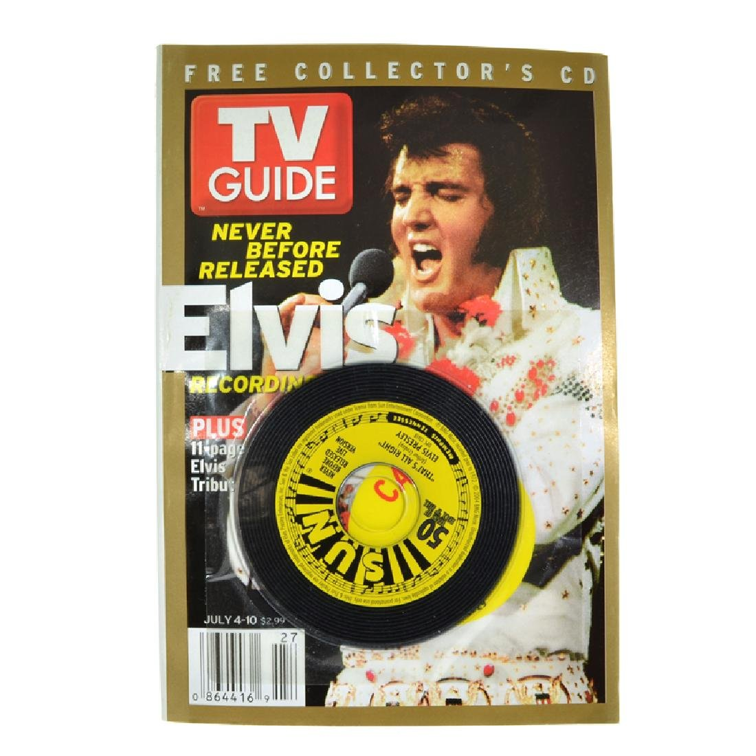 Rare Elvis Presley TV Guide Edition With Collector's CD