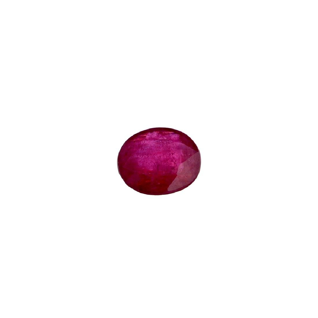 APP: 1.2k 6.85CT Oval Cut Ruby Gemstone