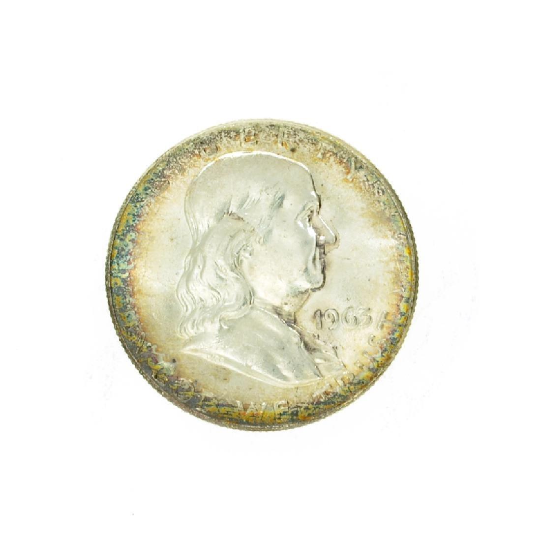 1963 Franklin Liberty Bell Half Dollar Coin